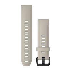 QuickFit 20-Uhrenarmbänder Sandfarbenes Silikon