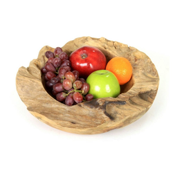 ROG-Gardenline Dekoschale, TEAKHOLZ, 30 CM beige Ø 30 cm x 8 cm