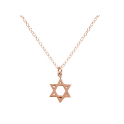 Gemshine Kette mit Anhänger Davidstern, Star of David, Made in Spain rosa