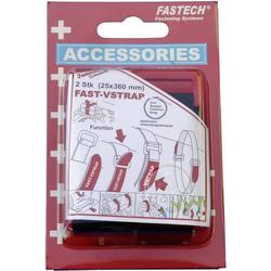 FASTECH® 688-360K Klettband mit Gurt Haft- und Flauschteil (L x B) 360mm x 25mm Schwarz 2St.