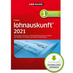 Lexware lohnauskunft 2021 1 Jahr 1 Benutzer Download Win, Deutsch (08846-2029)