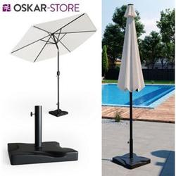 Oskar Sonnenschirmständer 20kg Schirmfuß Schirmhalter Schirmständer Beton Garten