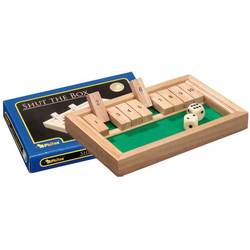Klappbrett mini Philos Shut The Box Klappenspiel/Würfelspiel 3129
