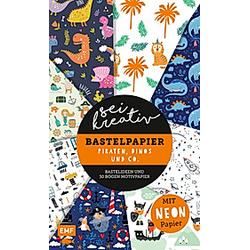 Sei kreativ! - Bastelpapier Piraten  Dinos und Co. - Bastelideen und 30 Bogen Motivpapier in 2 Stärken (120 g/qm  250 g/. Thade Precht  - Buch