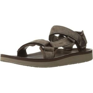 Teva Herren Leather Original Universal Premier-Leder-Sandale, Schokoladenbraun, Größe 46, Schokobraun, 45.5 EU