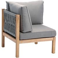 BEST Freizeitmöbel Madagaskar Grandis Lounge-Eckteil grau