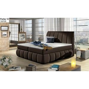 Boxspringbett Hotelbett mit 2 Bettkasten VENUS 160/140 x 200 weiß grau schwarz