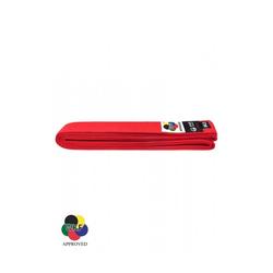 KARATE-GÜRTEL, TOKAIDO, WKF-ZULASSUNG, ROT (Größe: 255, Farbe: Rot)