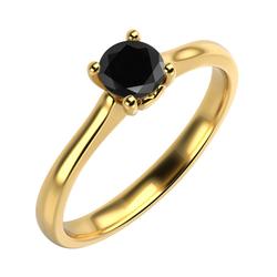 Verlobungsring mit schwarzem Diamant Jaman