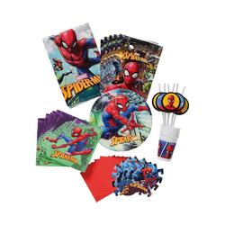 Procos Kindergeschirr-Set Partyset Spiderman Team Up, 56-tlg.