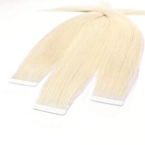 hair2heart 10 x 2.5g Tape In Echthaar Extensions, 30cm - glatt - #60 lichtblond
