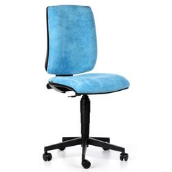 Bürostuhl figo ohne armlehnen, dauerkontakt-rückenlehne, blau