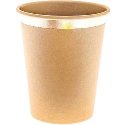 Pappbecher Kraftpapier Gold Fsc Mix