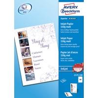 Zweckform Avery Zweckform 2579-100 Fotopapier Weiß A4
