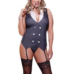 Sexy Sekretärin Kostüm Plus Size