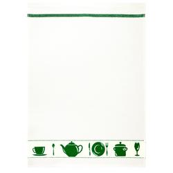 framsohn Geschirrtuch Waffel 'Geschirr' 50 x 70 cm Grün
