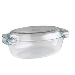 Pyrex Bratkochtopf mit Deckel Glas 4,5L