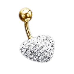 evoke Bauchnabelpiercing Herz, mit Swarovski-Kristallen