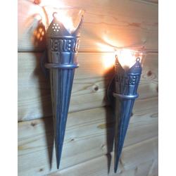 Dekolook Wandkerzenhalter Florence (Set, 2x Wandkerzenhalter), Wandkerzenhalter Wandteelicht Teelichthalter Kerzenhalter Wandleuchter Wandlicht