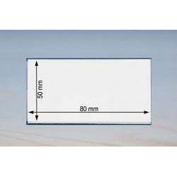 Namensschild 80 x 50 mm - 100 Stück