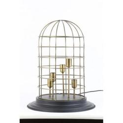 Casa Padrino Tischleuchte Schwarz 47 x H 60 cm - Leuchte - Tischleuchte