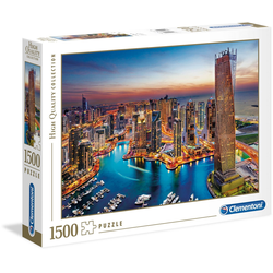 Clementoni® Puzzle High Quality Collection - Yachthafen von Dubai, 1500 Puzzleteile, Made in Europe