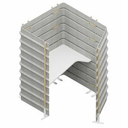 TEPEE Sitzarbeitsplatz mit Tischplatte, freistehend, Arbeitsplatte Breite=120cm