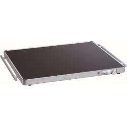 Bartscher WP300 2/1 GN Warmhalteplatte, Wärmeplatte ausgelegt für 2/1 GN- Behälter, Maße: 550 x 666 x 40 mm