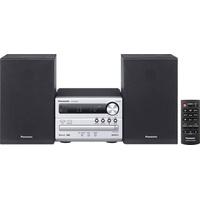Panasonic SC-PM250EG-S Stereoanlage Bluetooth®, CD, USB, 2 x 10W Silber