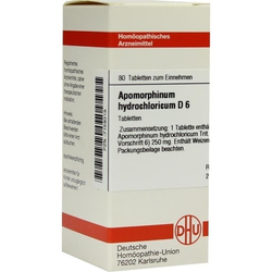 APOMORPHINUM HYDROCHL D 6