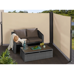KONIFERA Seitenmarkise, BxH: 600x160 cm beige Seitenarm-Markisen Markisen Garten Balkon Seitenmarkise