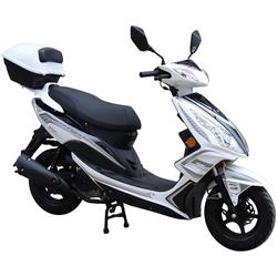 GT UNION Motorroller GT3, 50 ccm, 45 km/h, Euro 4, (Set), inkl. Topcase weiß