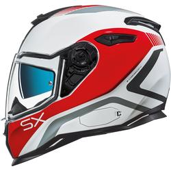 Nexx SX.100 Popup Helm, weiss-rot, Größe M