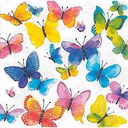"Papierservietten ""bunte Schmetterlinge"", 33 x 33 cm, 20 Stück"