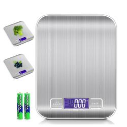 Intirilife Küchenwaage Intirilife Digitale Küchenwaage Elektronische Waage Wasserdicht, 5kg Elektronische Digitale Küchenwaage