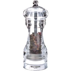WESTMARK Acryl Salz- und Pfeffermühle, Für Pfeffer, Salz und andere Gewürze, 1 Stück