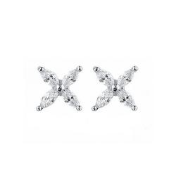 Everneed Cassie - kleine Kristallohrringe Silber (U)