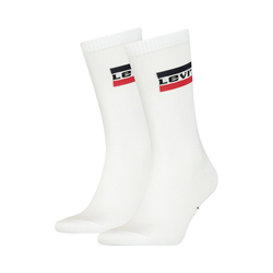 Levi's® Socken 2er Pack Levis Regular Cut Sprtwr Logo 2p Socken weiß 43-46