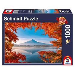 SCHMIDT SPIELE (UE) Herbstzauber am Fuji Puzzle Mehrfarbig