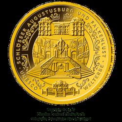 1/2 Unze Gold 100 Euro Deutschland 2018 UNESCO Welterbe - Augustusburg und Fa...