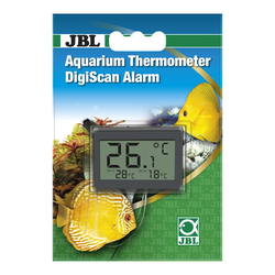 JBL Aquarium Thermometer DigiScan Alarm grau