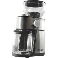 KOENIC KGC 2221 M Kaffeemühle Edelstahl/Schwarz (200 Watt, Scheibenmahlwerk)