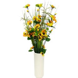 Kunstpflanze Gras/Stiefmütterchen, I.GE.A., Höhe 70 cm