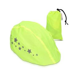 kwmobile Fahrradhelmüberzug, Helmüberzug Regenschutz für Fahrrad Helm - Helmschutz für Fahrradhelm - Regenüberzug wasserabweisend unisex - Sichtbarkeit gelb