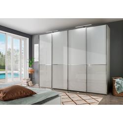 WIEMANN Schwebetürenschrank Shanghai mit Panorama-Tür und Glasfront 300 cm x 236 cm x 67 cm