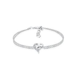 Elli Armband Herz Liebe Kristalle 925 Silber