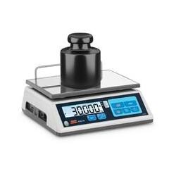 TEM - Tischwaage 30 kg/10 g geeicht Marktwaage Ladenwaage Memory-Funktion LCD