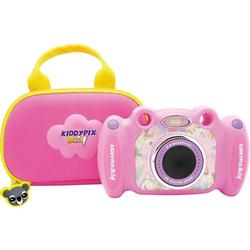 Easypix Kiddypix Blizz Pink Kinderkamera (vordere Linse für Fotos und Videos, hintere Linse für Selfies, 2 MP) rosa