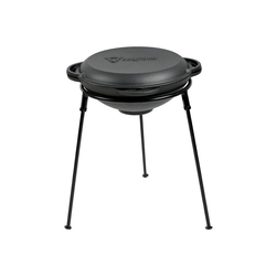 BBQ-Toro Grilltopf BBQ-Toro Kazan Set 32 cm mit Gusseisen Kasan und Ständer