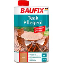 Baufix Holzschutzlasur Teak-Pflegeöl, 1 Liter, transparent weiß